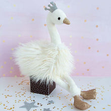 Load image into Gallery viewer, Histoire D'ours White Glitter Swan