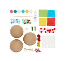 Load image into Gallery viewer, Kid Made Modern Paper Mache Ornament Kit