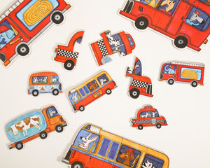 Mideer My First Puzzle Set of 6 Vehicle Puzzles