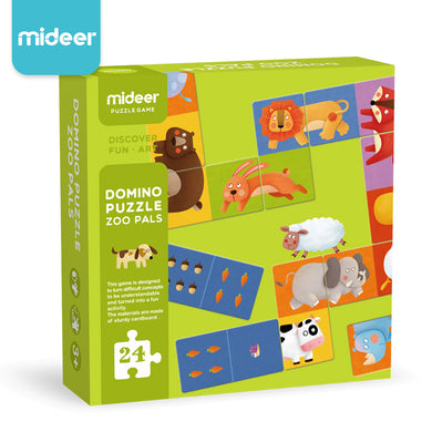 Mideer Domino Puzzle Zoo Pals Matching Game and Domino Set