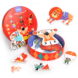 Mideer 3-D Creative Stacking Puzzle Crazy Circus