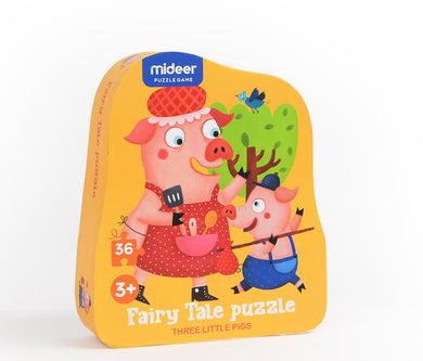 Mideer Fairy Tale 36-Piece Puzzle: The Three Little Pigs