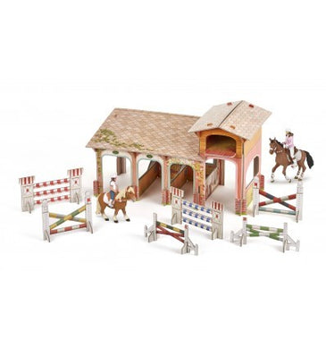 Papo France Pony Club Playset with Riders and Horse Figurines