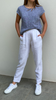 Linen tapered leg pant