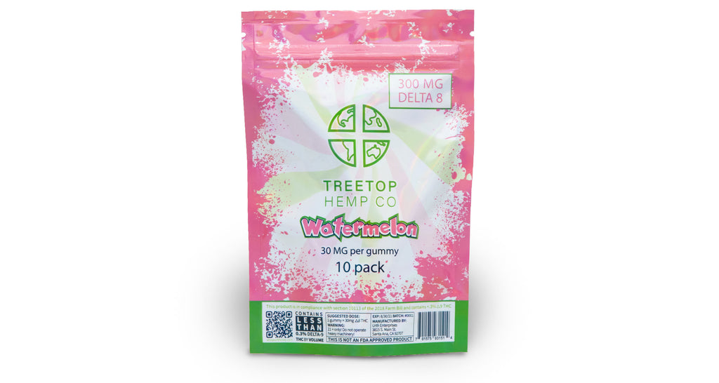 Watermelon 10 pack D8 Gummies | Treetop Hemp Co. | URTH CBD