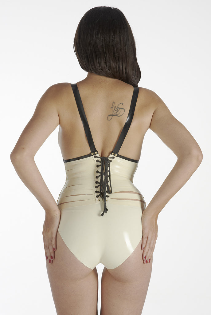 Nulla Salu corsetted bodysuit (with cross)
