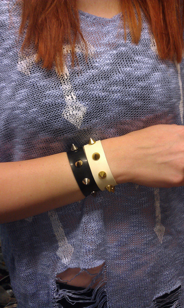 Tough Cookie Latex Studded Wrist Band