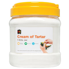 1kg tub of cream of tartar from Educational Colours