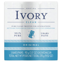 Packet of 3 bars of Ivory Soap