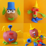 toy shown with playdough and potatoes
