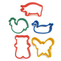 7 different animal-shaped cookie cutters