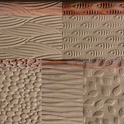 textures shown in clay