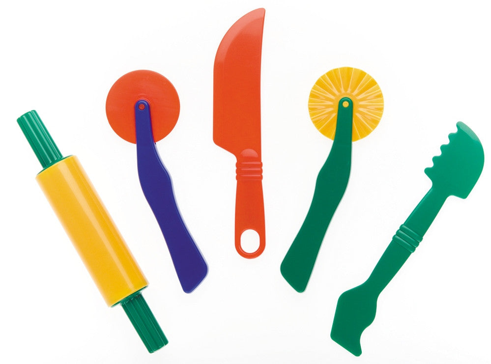 5 basic playdough tools - Accessories for dough and clay