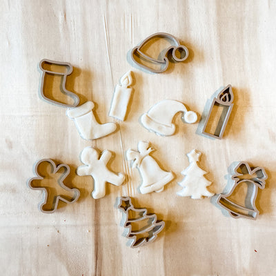 6 eco dough cutters for Christmas