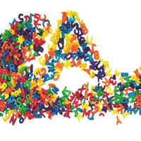Alphabet coloured pasta in an 'A' shape