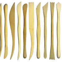 12 Boxwood Clay Tools - Accessories for dough and clay