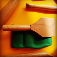 tool shown on green playdough