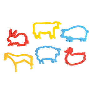 6 farm animal shaped cutters