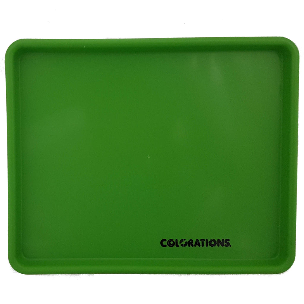 single green art tray