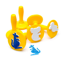 yellow Australian stamper set