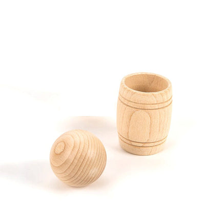 wooden ball and barrel