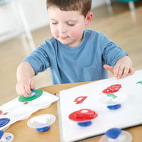 child using stampers