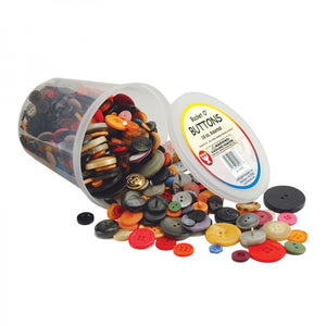 Bucket of buttons