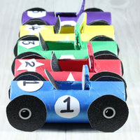 cars made from craft rolls