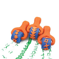 3 rollers with orange handles and star and arrow patterns