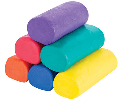 clay dough shown in 6 colours.