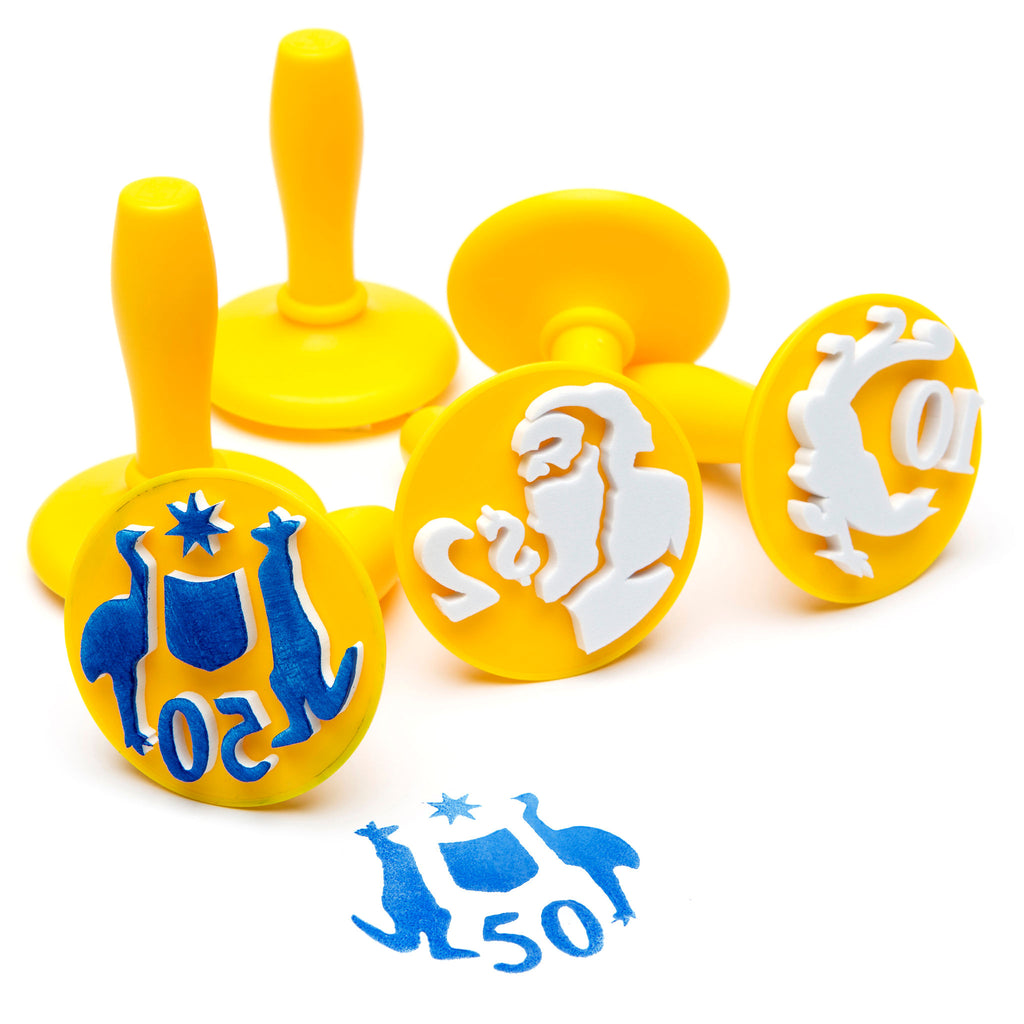 Australian Coin Stampers for Playdough or Paint
