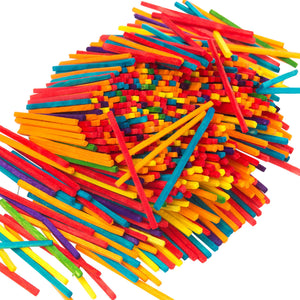 600 Coloured Wooden Matchsticks - Craft