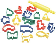 Cookie cutters and rolling pin set