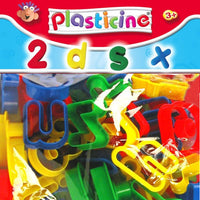 Plasticine branded number and letter playdough cutters