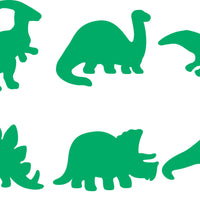 6 dinosaur shapes