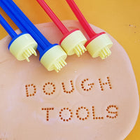 dough tools shown stamped into dough