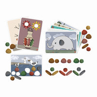 pebbles and cards