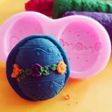 Play dough Easter egg with silicon mould