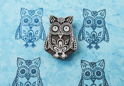 Owl design on a Rosewood stamp