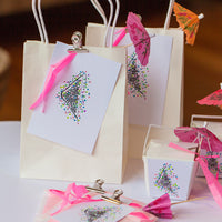 gift bags decoration with fairy bread iconic stamper