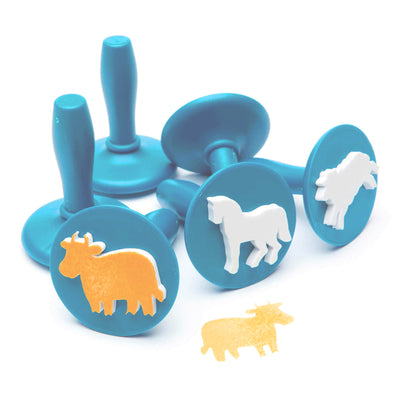 light blue coloured farm animal stampers