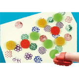 Paint designs with finger stampers