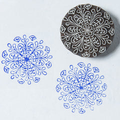 Floral Mandala design on a Rosewood stamp