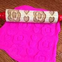 playdough with rolling pin
