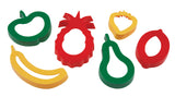 Fruit-shaped playdough cutters, set of 6 - Accessories for dough and clay
