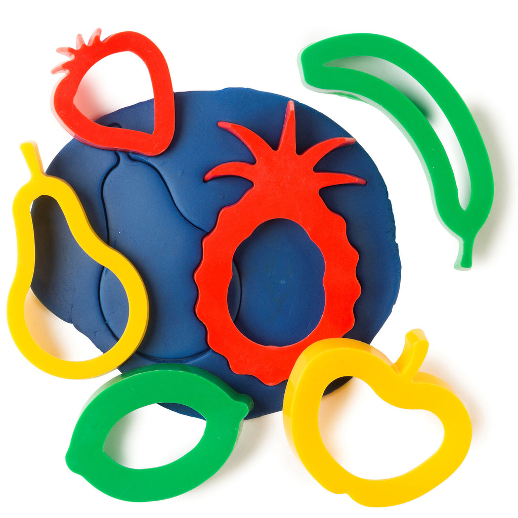 Fruit-Shaped Playdough Cutters, Set of 6