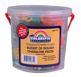Bucket of dough character pieces by Colorific.