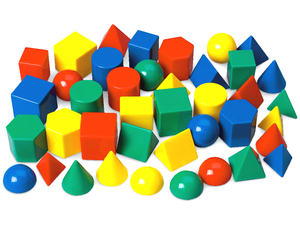 40 plastic shapes