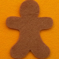 1 felt gingerbread man