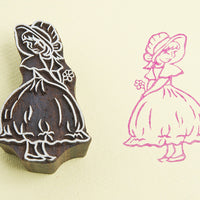 Coy Girl design on a Rosewood stamp